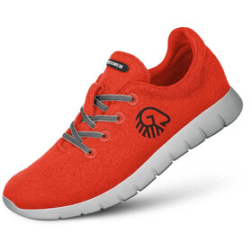 Giesswein Merino Wool Chaussures de running Homme, neon orange